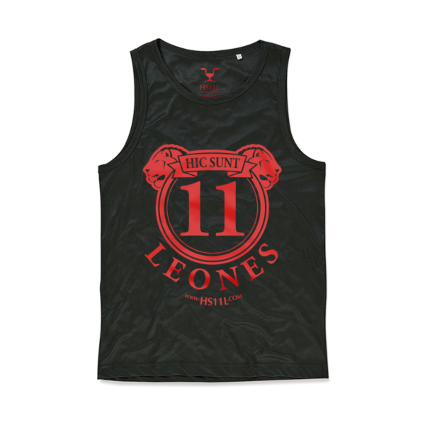 Active Black tank-top uomo, red sign