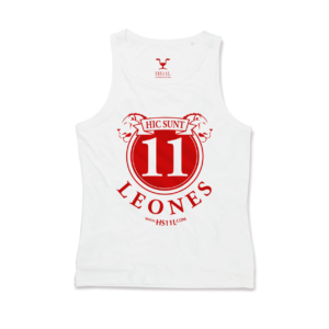 Active White tank-top uomo, red sign