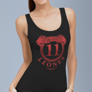 Active Black tank-top donna, red sign