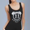 Active Black tank-top donna, white sign