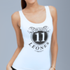 Active White tank-top donna, black sign