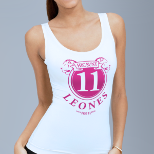 Active White tank-top donna, pink sign