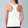 Active White tank-top donna, red sign