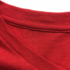 Total Red t-shirt detail